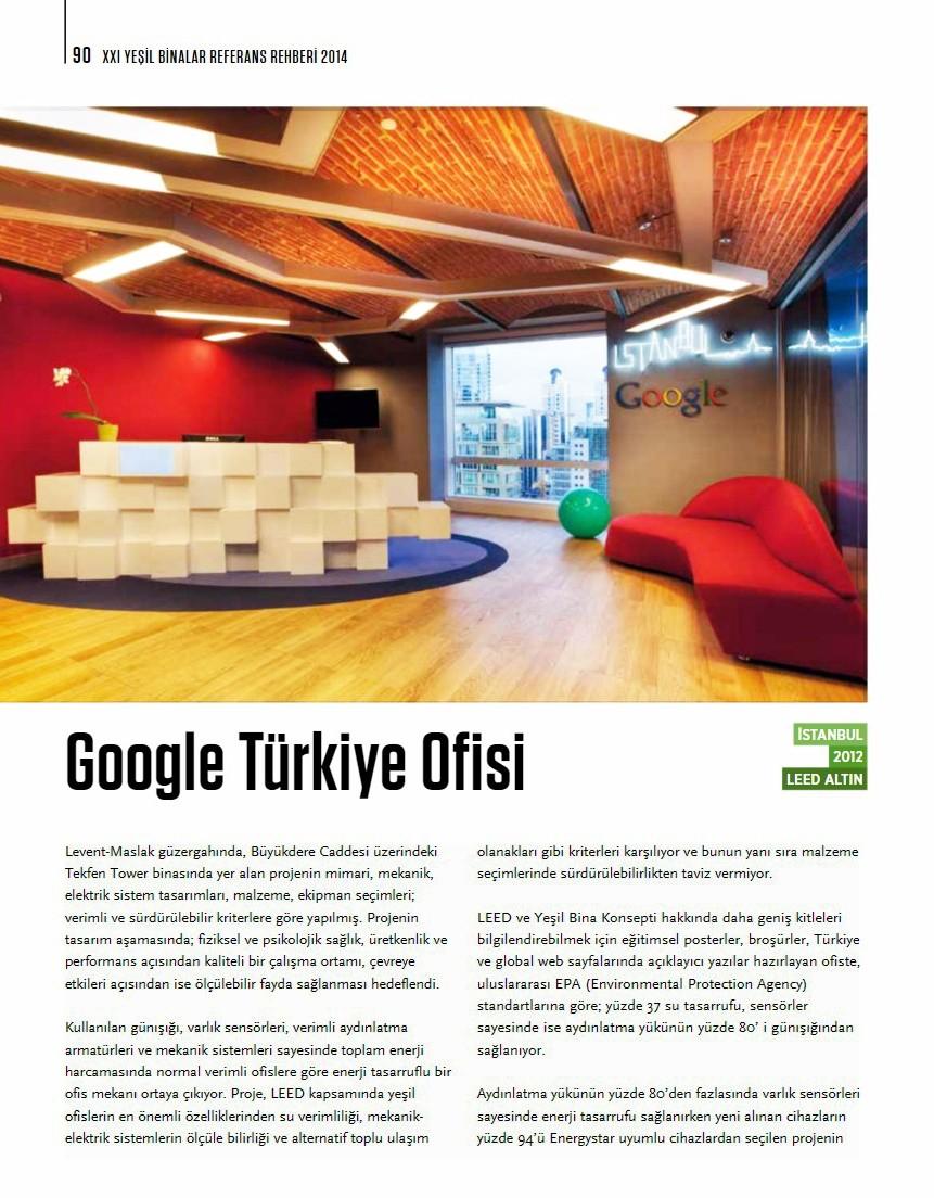 Google Turkey Office Sistema Teknolojik Yapı